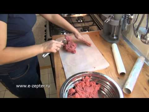 Как приготовить колбасу дома видео