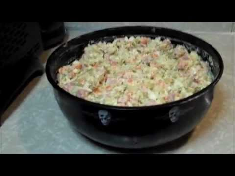 37. США. Салат оливье. Olivier salad. Russian recipe.
