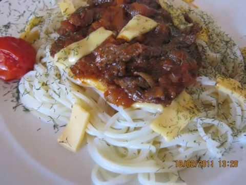Приготовить спагетти с говядиной