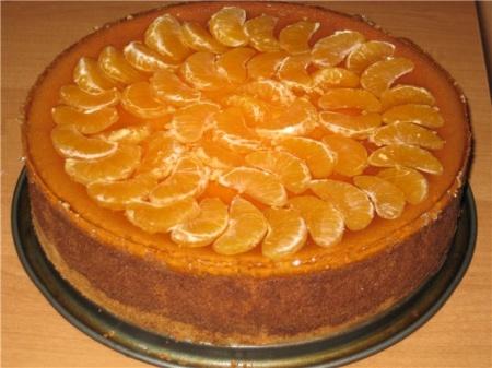 Мандариновый торт. Рецепт приготовления