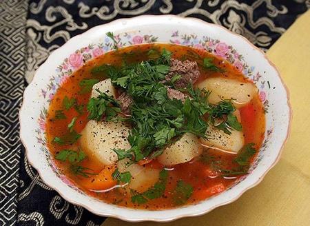 Шурпа. Рецепт приготовления вкусного супа