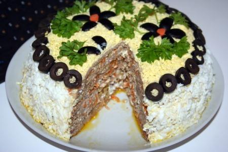 Печеночный тортик. Рецепт приготовления
