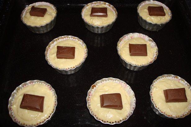 кексики с шоколадом внутри рецепт с фото
