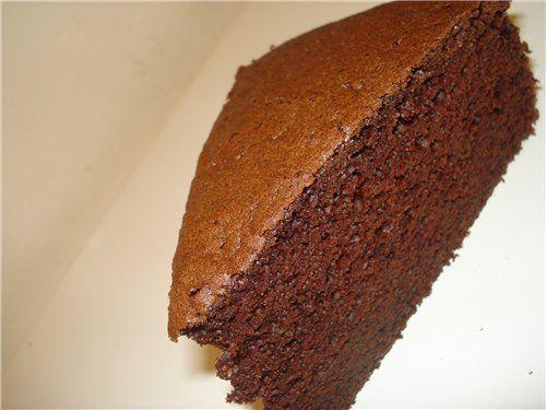 Шоколадный бисквит с фото