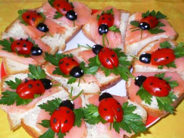 Закуска для детей на день рождения фото