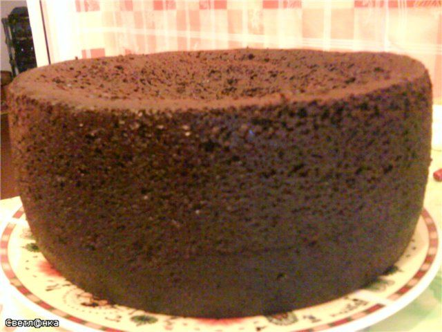бисквитный шоколадный торт рецепт с фото пошагово
