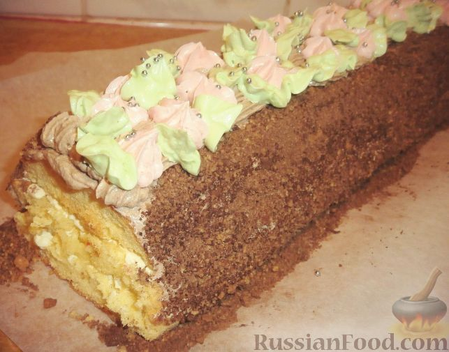 Торт-рулет Сказка