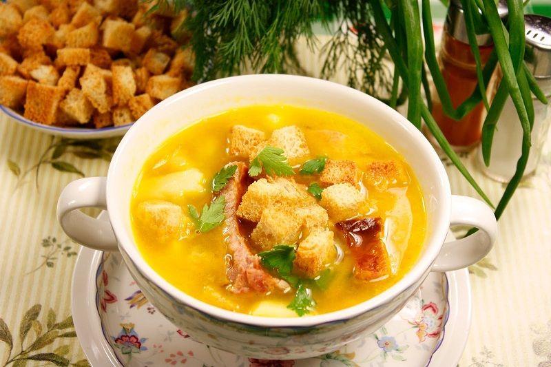 Как приготовить гороховый суп с копченостями с