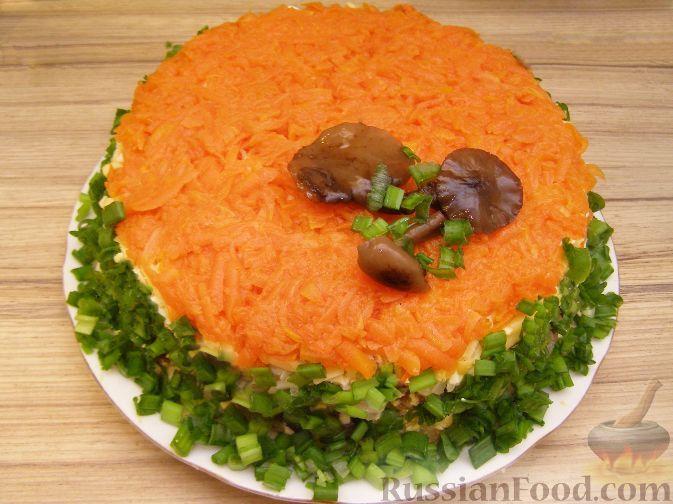 Салат полянка рецепт с фото курицей