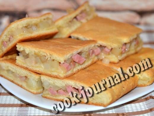 Пироги с колбасой рецепты с фото