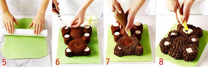 как сделать торт мишка