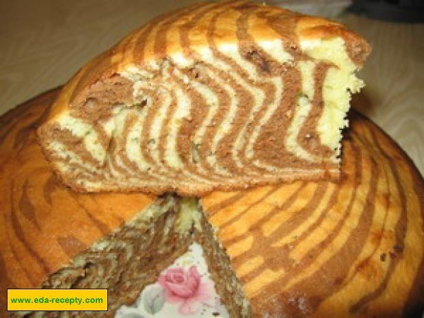 Пирог из кефира зебра рецепт с