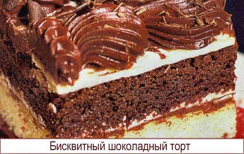 Торт бисквитный шоколадный видео рецепт