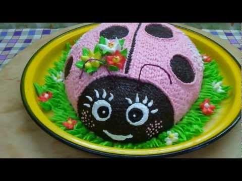 Торт божья коровка пошаговое фото