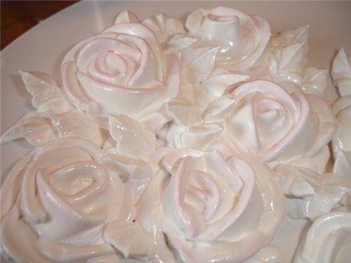 Как сделать розу из заварного белкового крема