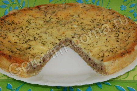 Рыбный пирог открытый из консервов рецепт с