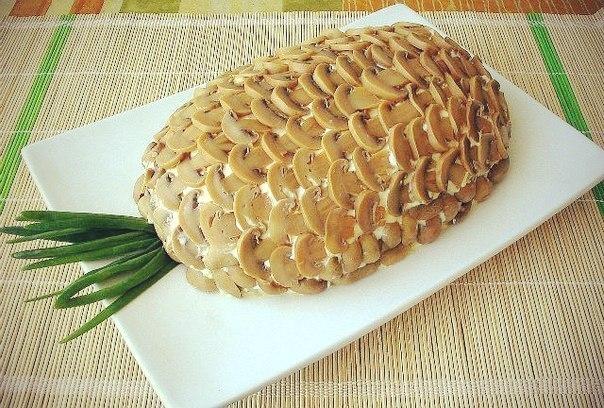 Праздничные салаты с ананасом рецепты фото