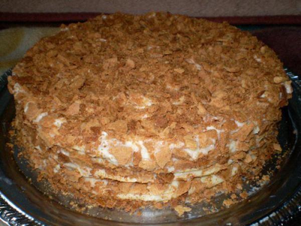Легкий рецепт торта наполеон в домашних условиях