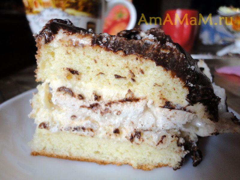 рецепт бисквитного пирога с вареньем в духовке
