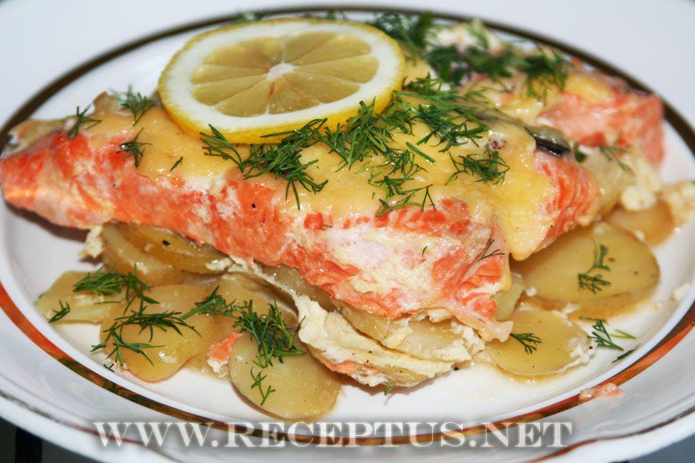 Блюда с рыбой в духовке рецепты с фото