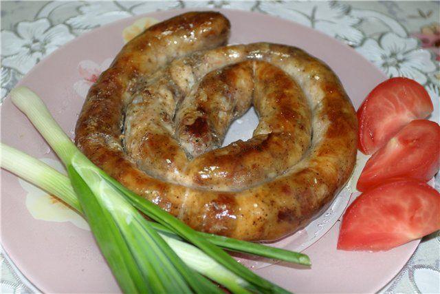 домашние колбаски в кишке рецепт с фото