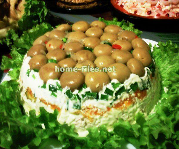 салат грибна поляна фото