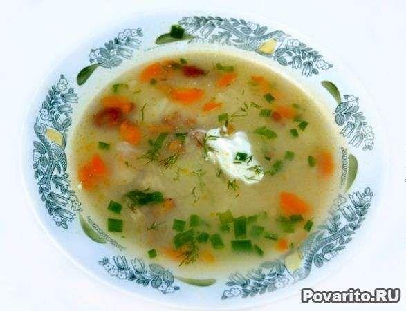 рецепт сырный суп в мультиварке поларис