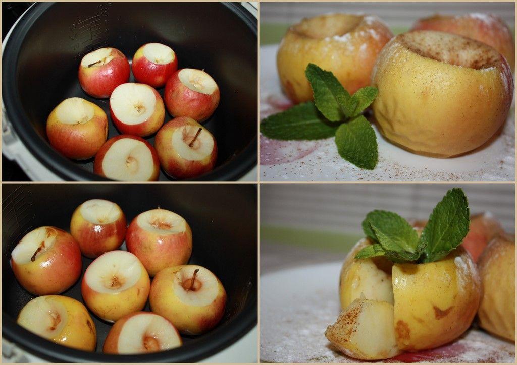 Яблоко запеченное в мультиварке рецепт с фото