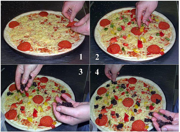 Сделать пиццу в домашних условиях пошагово