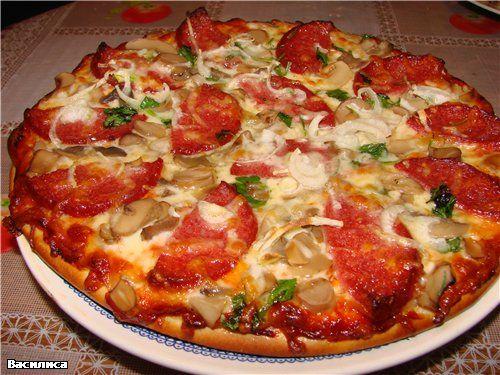 Грибная начинка для пиццы рецепты
