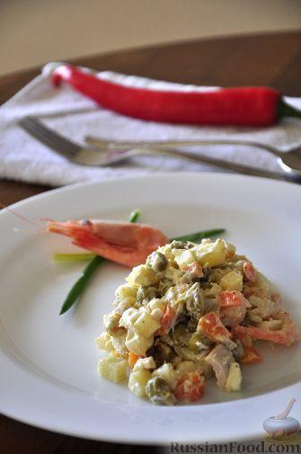 Рецепт французского салата оливье