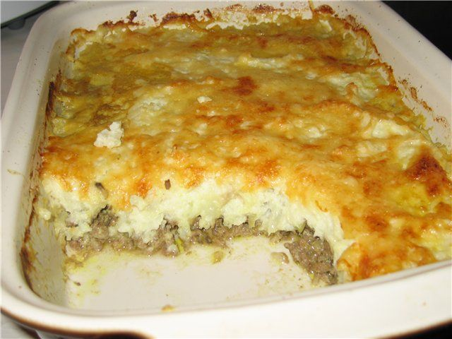 Картофель с фаршем в духовке рецепт фото