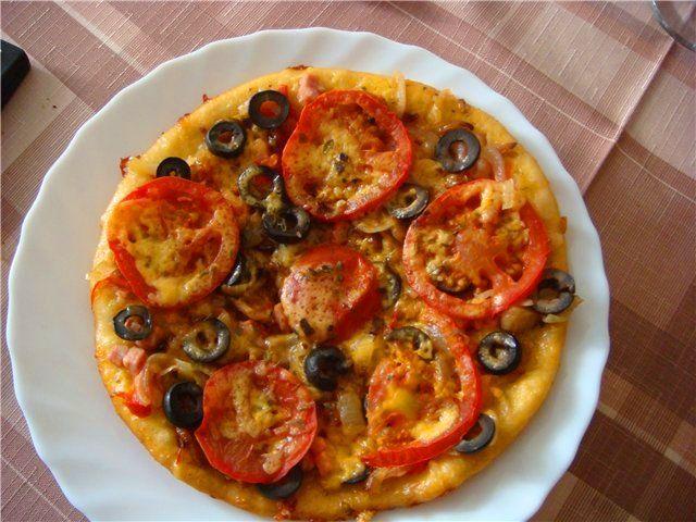 Рецепт пицца в мультиварке с фото