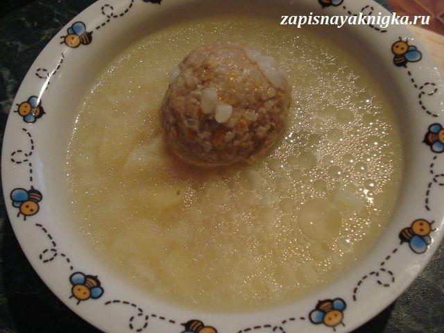 рецепт густого супа с фрикадельками