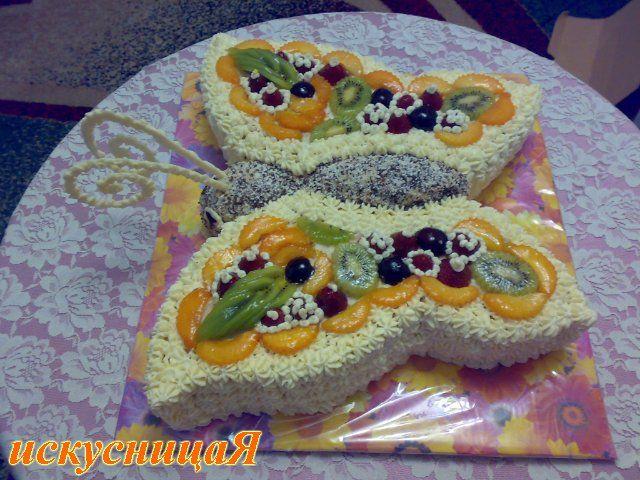 Торт для ребенка своими руками рецепт с фото без мастики