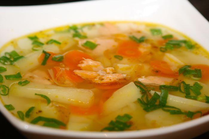 Рыбный суп из семги рецепт с фото