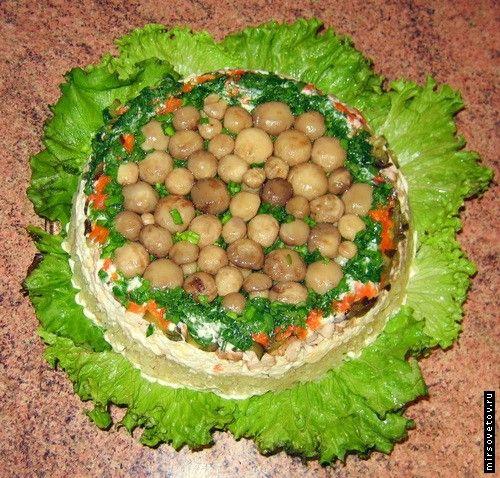 Салаты рецепты фото грибная полянка