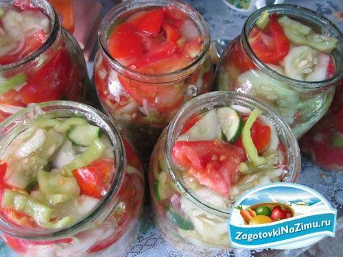Салаты на зиму рецепты с помидоры и огурцы