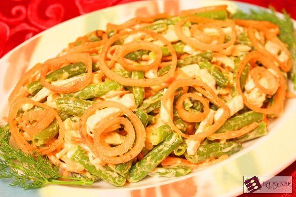 Салат с корейской морковью с чипсами рецепт с