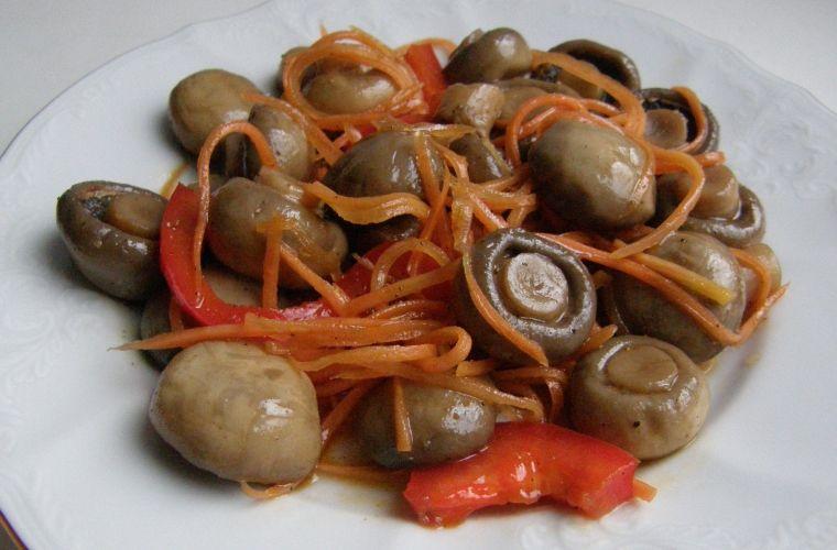 Корейские салаты с грибами рецепты