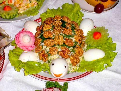 украшение блюд салатов с фото