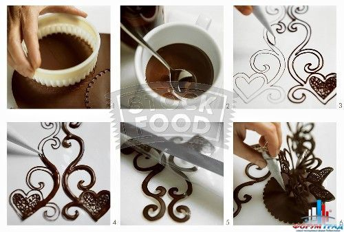 Украшение тортов из шоколада фото