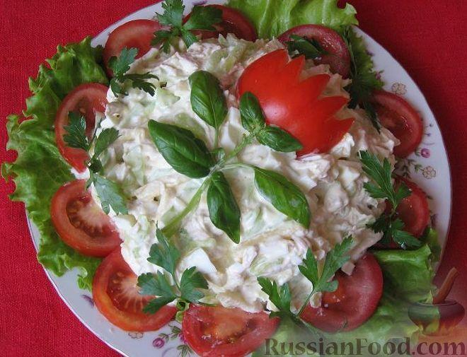 Вкусные салаты на день
