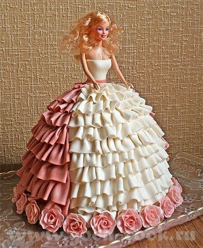 Торт детский с куклой