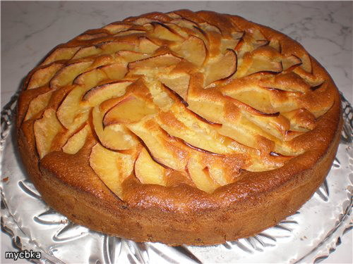 Пирог с яблоками рецепт с фото на