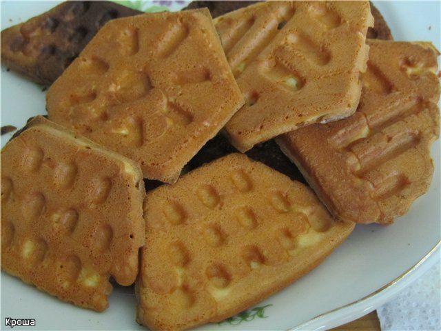 рецепт приготовления печенья в форме на газу. фото