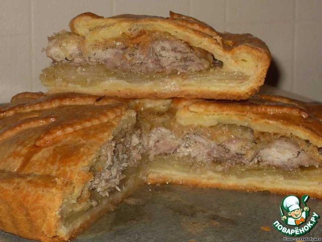 Пирожки с картошкой и фаршем в духовке рецепт с фото